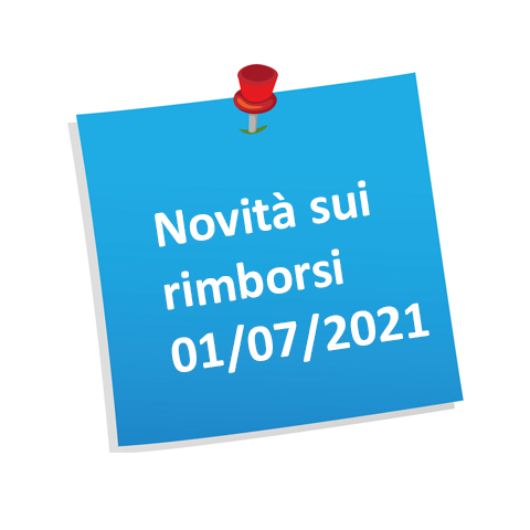 Novità sui rimborsi 01/07/2021